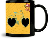 ShopMantra Love Makes A Beautiful Ride Mug (Black, Pack Of 1)