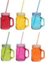 Platex Classy Mason Jar Glass Mug (450 Ml, Pack Of 6)