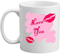 Jiyacreation1 Love You With Love Bite Multicolor White Ceramic Mug (3.5 Ml)