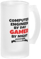 Boxmywish Gamer Computer Engineer Frosted Beer Glass Mug (500 Ml)