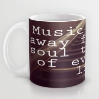 Astrode Music Washes Away From The Soul Dust Of Every Day Life Ceramic Mug (325 Ml)