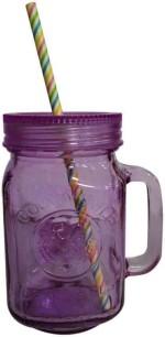 Toygully Cups & Mugs Toygully Straw With Purple Jar Glass Mug