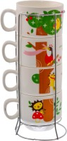 Avenue Coffee/Tea Cups-01 Ceramic Mug (125 Ml, Pack Of 4)