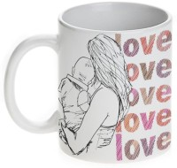 Mugwala Love Love Lovely MOM Ceramic Mug (330 Ml)