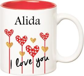 HuppmeGift I Love You Alida Inner Red  (350 ml) Ceramic Mug