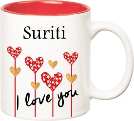 HuppmeGift I Love You Suriti Inner Red  (350 ml) Ceramic Mug
