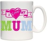 Giftsmate I Love My Superstar Mum Mug (White, Pack Of 1)