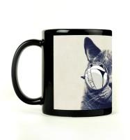 Shoprock Glasses On Mug (Black, Pack Of 1)