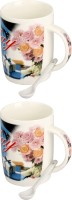 Somil Attractive New Look & Designe Multipurpose Gift 04 Ceramic Mug (400 Ml, Pack Of 4)