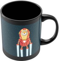PosterGuy Iron Man Avengers Inspired Minion Movie Inspired Ceramic Mug (280 Ml)