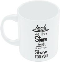 PosterGuy Look At The Stars Coldplay Yellow Inspired Coldplay Band Inspired Ceramic Mug (280 Ml)