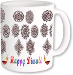 PhotogiftsIndia Plates & Tableware PhotogiftsIndia Multiple Designing With Happy Diwali Coffee Ceramic Mug