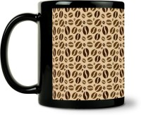 ShopMantra Coffee Beans Pattern Ceramic Mug (300 Ml)