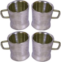 Dynamic Store Set Of 4 Double Wall Milano Cups Stainless Steel Mug (175 Ml, Pack Of 4)