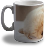Artifa Plates & Tableware Artifa Dog Sleeping Porcelain, Ceramic Mug