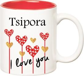 HuppmeGift I Love You Tsipora Inner Red (350 ml) Ceramic Mug