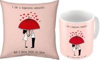 Little India Fancy Design Coffee  N Filled Cushion Pair 257 Ceramic Mug (300 Ml, Pack Of 2)