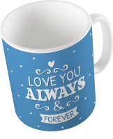 Home India Blue Designer Printed Cute Coffee  706 Ceramic Mug (300 Ml)
