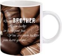 Lolprint Gift For Raksha Bandhan Rakhi Gifts For Brother (Design 59) Ceramic Mug (325 Ml)