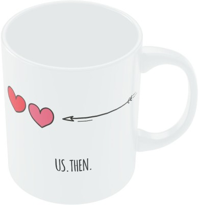 PosterGuy Us Then And Now Valentine's Day Coffee Mug (White, Pack Of 1)