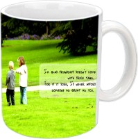 Jiya Creation1 Friends Forever With Heavy Words White Ceramic Mug (350 Ml)