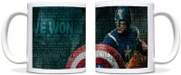 ShopMantra Captain America Quote Black Ceramic Mug (300 Ml)