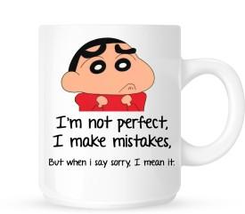 Huppme Gifts Sorry Like Shinchan White  Ceramic Mug
