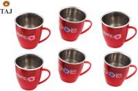 Taj S.S Inner Fancy Small Milk/Tea/Coffee Plastic Mug (120 Ml, Pack Of 6)