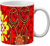 Mesleep Rakhi Quotes 34 Ceramic Mug (325 Ml)
