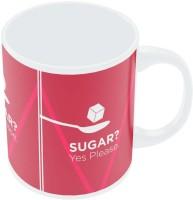 PosterGuy Sugar Yes Please | Maroon 5 Inspired Minimalist Illustration Ceramic Mug (280 Ml)