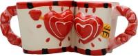 Lifestyle-You Romantic Coffee IG54A Ceramic Mug (100 Ml, Pack Of 2)