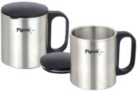 Pigeon Double Coffee Cup Stainless Steel Mug (300 Ml, Pack Of 2)
