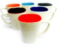 Jocular J1811 Ceramic Mug (180 Ml, Pack Of 6)
