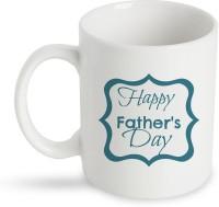 StyBuzz Happy Fathers Day White Ceramic Mug (300 Ml)