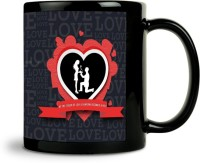 ShopMantra Love Typography Mug (Black, Pack Of 1)