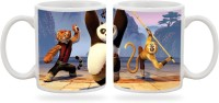 Artmagik Kung Fu Panda Team  Ceramic Mug (350 Ml)