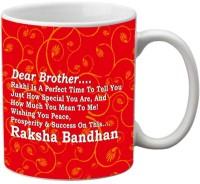 Mesleep Rakhi Quotes 100 Ceramic Mug (325 Ml)