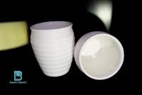 Buyer's Beach Precious White Set Of Kulhar Bone China Mug (180 Ml, Pack Of 2)