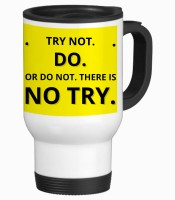 Tiedribbons No Try Gifts For Friend Travel Stainless Steel Mug (350 Ml)