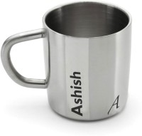 Hot Muggs Me Classic  - Ashish Stainless Steel Mug (200 Ml)