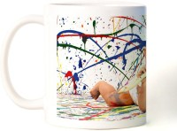 Amy Cute Baby Paint Ceramic Mug (350 Ml)