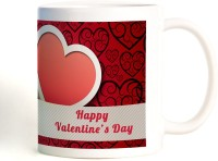ShopMantra Love Hearts Valentine's Day Mug (White, Pack Of 1)
