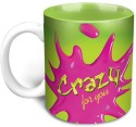 Hot Muggs Love Splash - Crazy for You Mug - Multi-color, Pack of 1