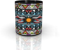 Seven Rays McMayan- The Sun Of Life- Black Mug (Multicolor, Pack Of 1)