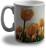 Artifa Plates & Tableware Artifa Yellow Flowers Porcelain, Ceramic Mug