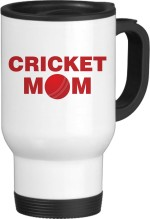 Tiedribbons Plates & Tableware Tiedribbons Cricket Mom White Travel Ceramic Mug