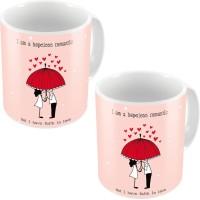 Home India Fancy Design Printed Cute Coffee S Pair 670 Ceramic Mug (300 Ml, Pack Of 2)