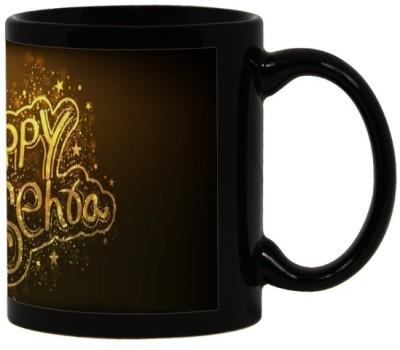 Lolprint 30 Diwali Gift Black Ceramic Mug