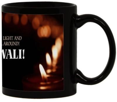 Lolprint 37 Diwali Gift Black Ceramic Mug