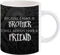 Lolprint Gift For Raksha Bandhan Rakhi Gifts For Brother (Design 47) Ceramic Mug (325 Ml)